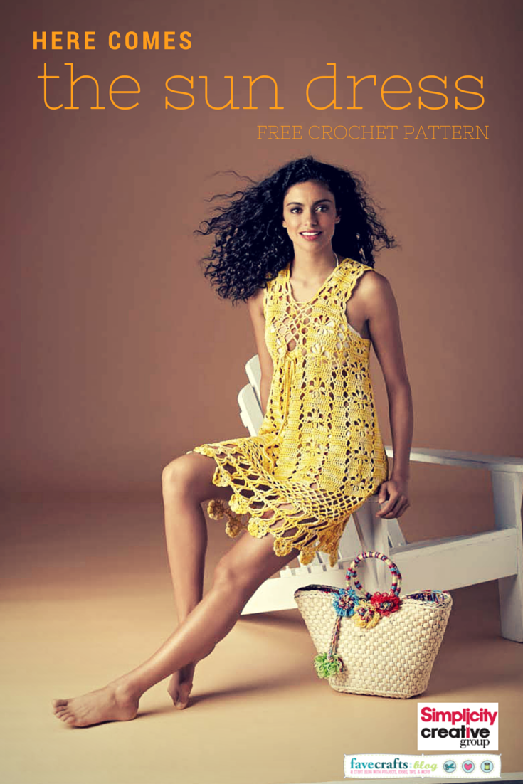 CROCHET SUN DRESS FREE PATTERN Here Comes the Sun Crochet Dress: National Craft Month Project & Giveaway