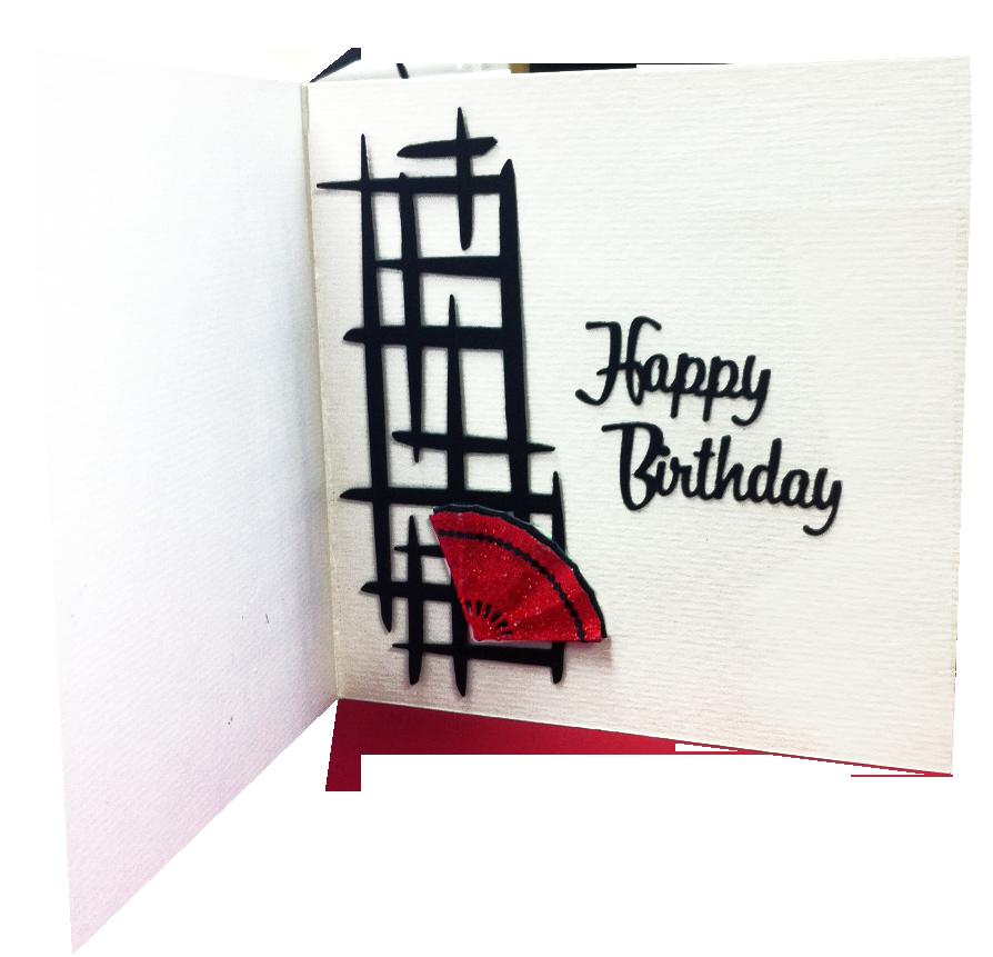 Fanning Flames Handmade Card