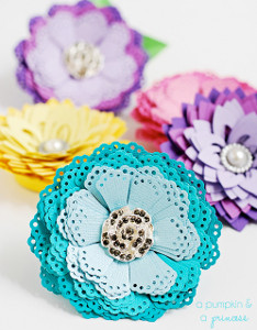 perfect paper punch flower Flower Power: 25 Flower Crafts