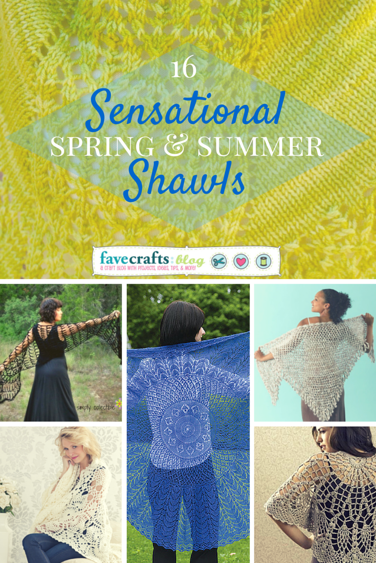 sensational free shawl patterns 16 Sensational Spring and Summer Shawls