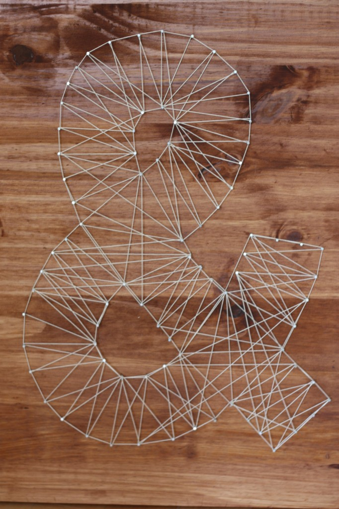 string art ampersand anthropologie 682x1024 50+ Cheap & Classy Anthropologie Knock Off Crafts