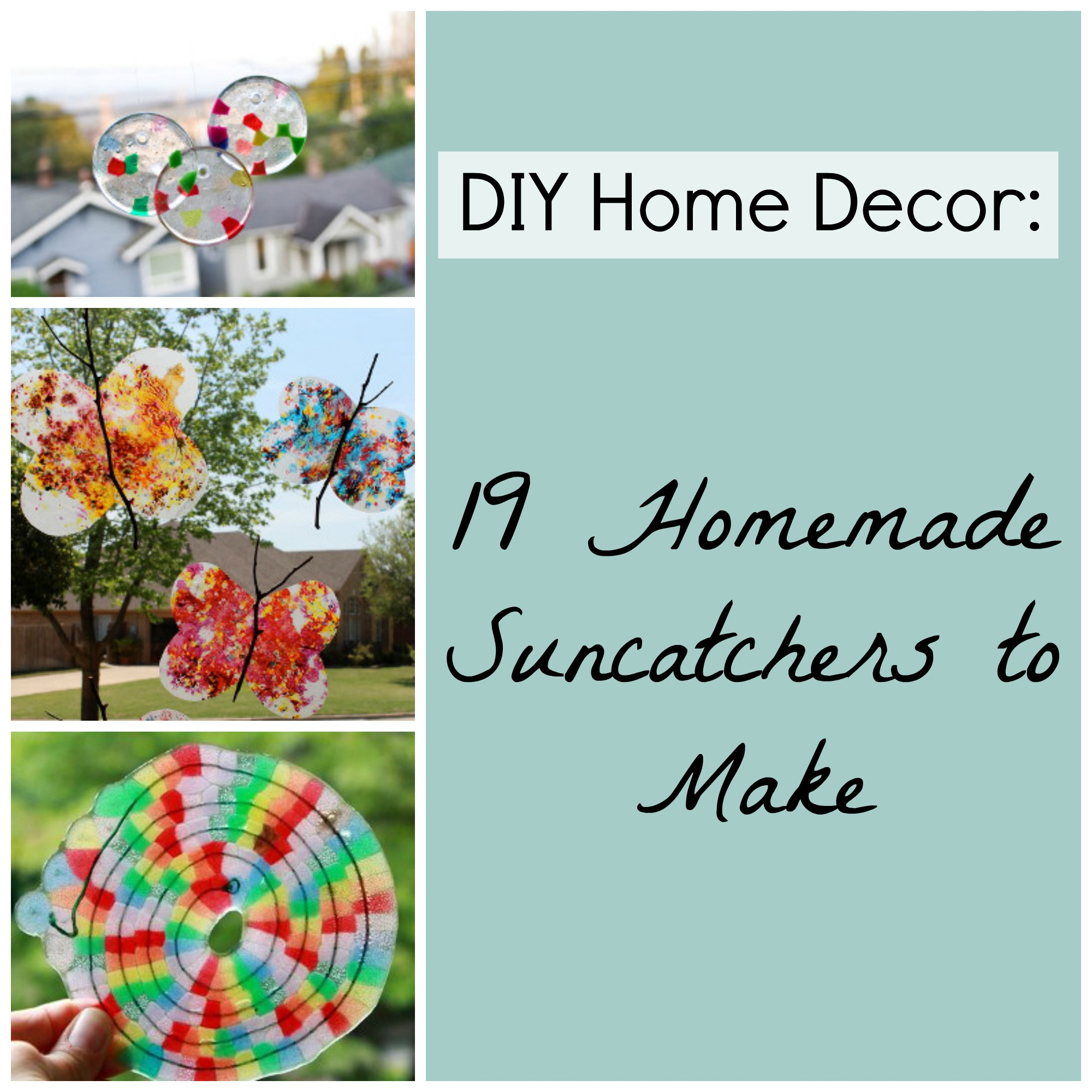 suncatchers blog post DIY Home Decor: 19 Homemade Suncatchers to Make