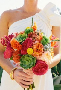 vibrant bouquet 204x300 How to Arrange Flowers: Buy, Arrange, and Care for Flowers Like a Pro