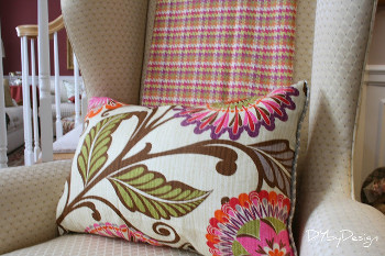 Throw and Pillow Tutorial using HGTV Fabric from JoAnn's
