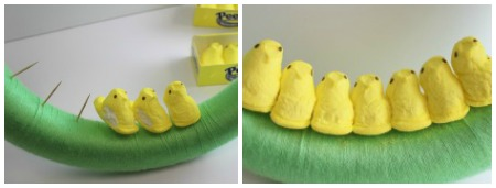DIY Wreath with PEEPS