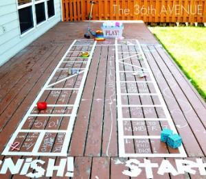 DIY Backyard Board Game