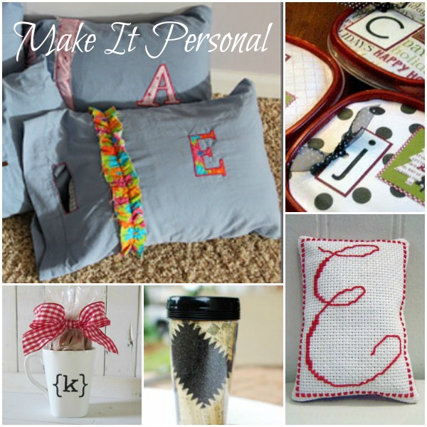 Make it Personal: Monogrammed Gifts for Family and Friends