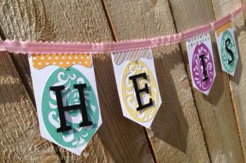 easter6 How to Make a Hoppy Easter Banner