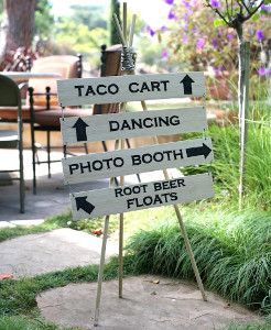 outdoor wedding wood sign 21 Stunning Summer Wedding Finds