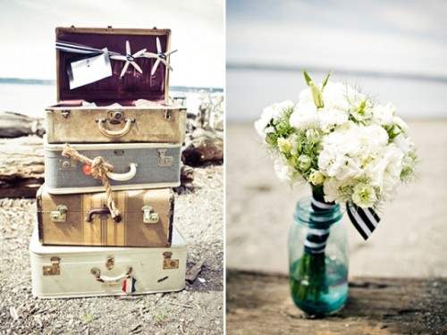 vintage nautical wedding inspiration 1 500x375 Tropical Getaway: Nautical Wedding Inspiration