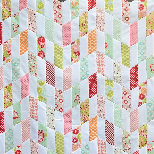Revered image intended for free printable chevron quilt pattern