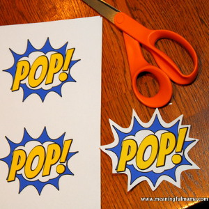 Comic Book Word Bubble Printables