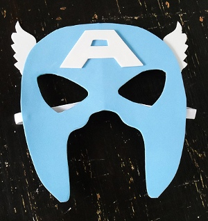 Captain America Mask Bam! Plan a Superhero Bachelorette Party