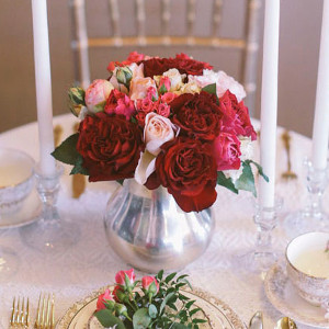 DIY Rose Centerpiece Ooh la la! Planning a Parisian Bridal Shower