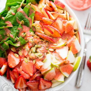 Fruit and Spinach Summer Salad