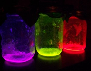 Glowing Neon Jars