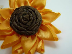 Multi-Petalled Ribbon Flower - Sunflower