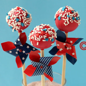 Patriotic Pinwheel Cake Pops So, Youre Throwing a Memorial Day Cookout...