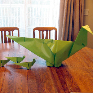 Giant Dino Origami