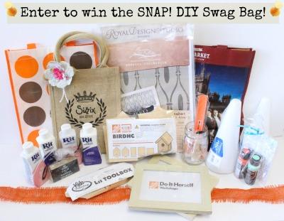 snap DIY swag bag Win a SNAP! DIY Swag Bag!
