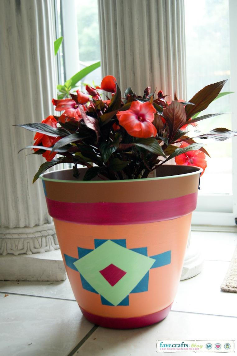 Diy aztec planter home depot giveaway favecrafts for Kids crafts at home depot
