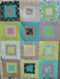 Super Square Fat Quarter Quilt