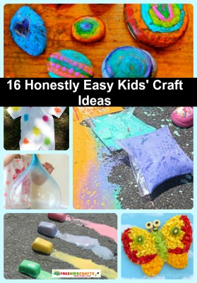 16 Honestly Easy Kids' Craft Ideas