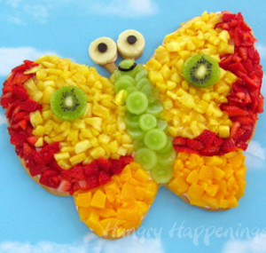 Sweet as Nectar Butterfly Pizza