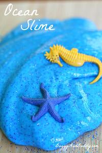 Sparkly Ocean Slime Recipe