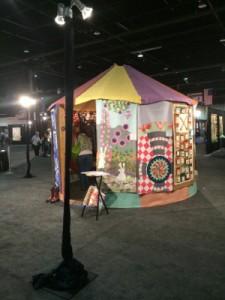 International Quilt Festival Display