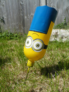 Adorable Minion Lawn Darts  10 Thrifty Recycled Crafts for Summer Fun