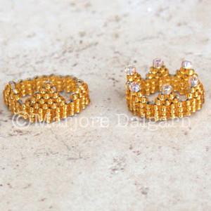 Crown Seed Bead Ring
