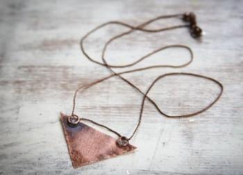 Burnished Copper Necklace