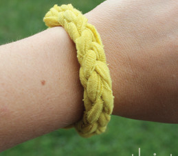 Hand-Crocheted Knit Bracelet
