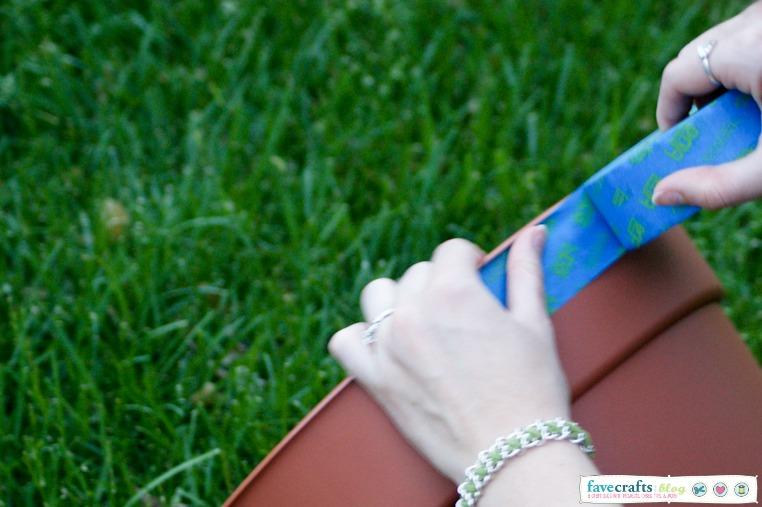 scotchblue tape planter DIY Aztec Planter + Home Depot Giveaway