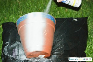 spray paint diy scotchblue 300x199 DIY Aztec Planter + Home Depot Giveaway