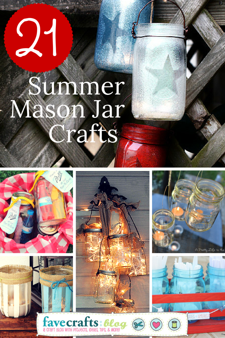 summer mason jar crafts 21 Summer Inspired Mason Jar Crafts