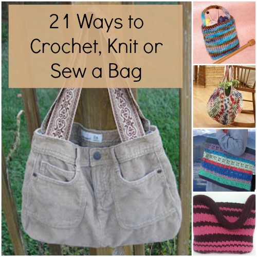Knitting Bag Pattern To Sew : 21 Ways to Crochet, Knit or Sew a Bag