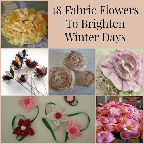 18 Fabric Flower Crafts To Brighten Winter Days
