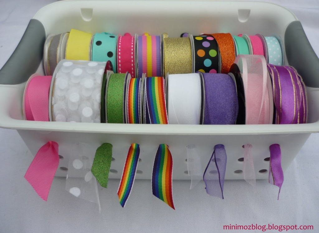Ribbon Basket Storage - DIY