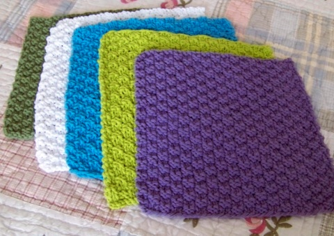 Double Seed Stitch Dishcloth