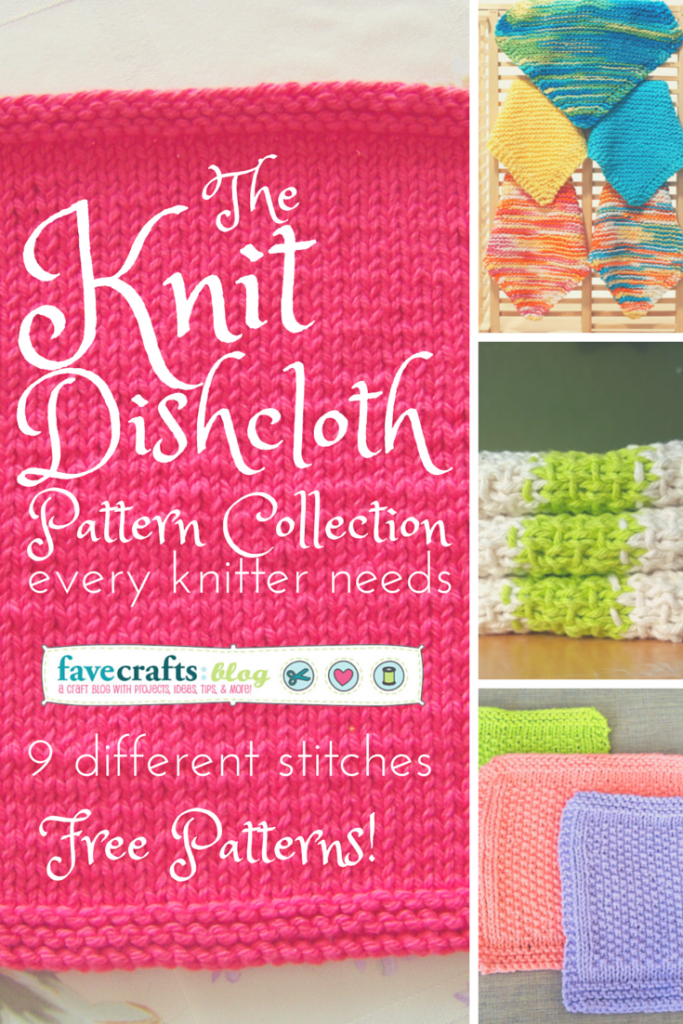 knit-dishcoloth-pattern-collection