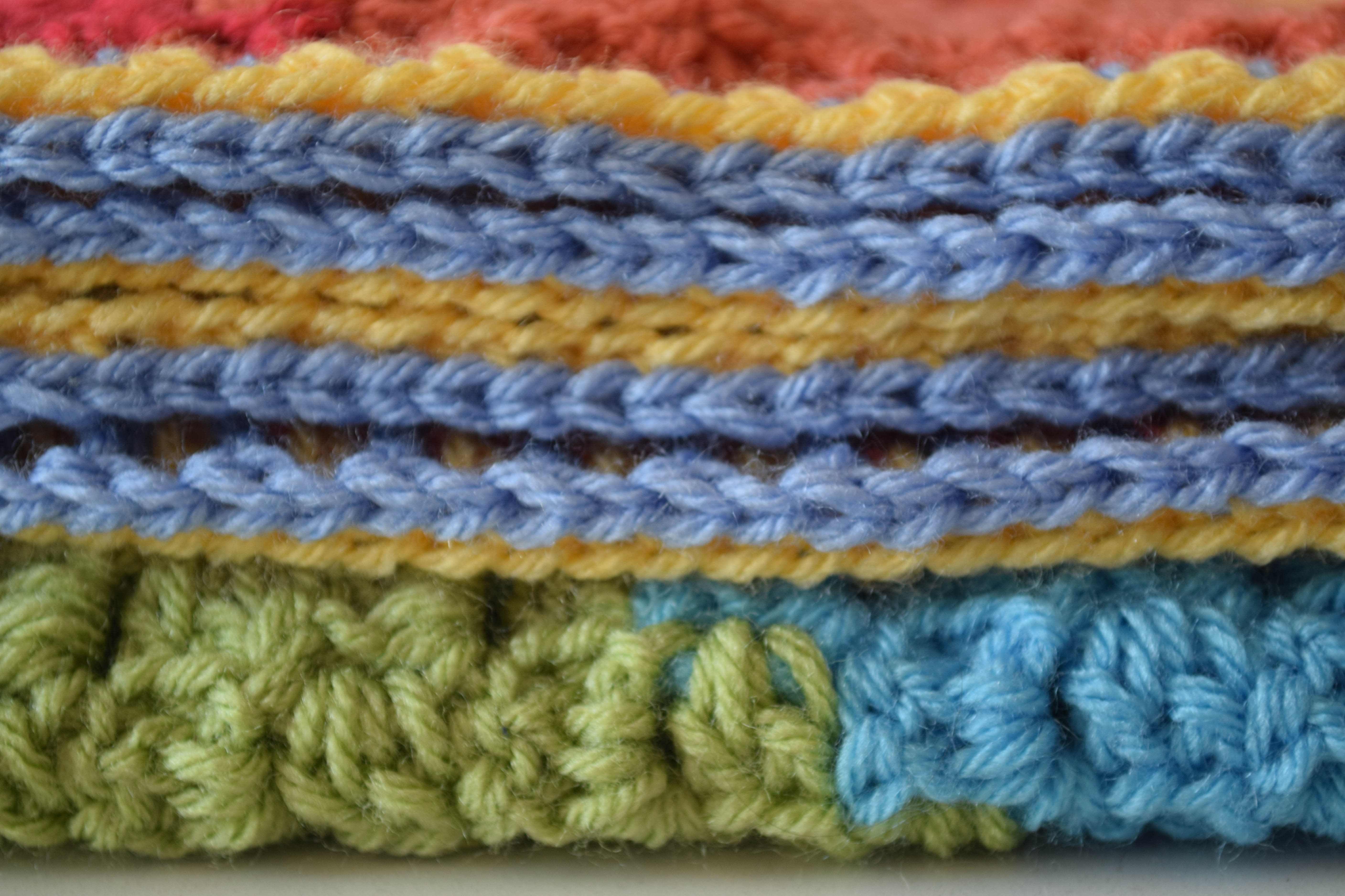 Knitting Pattern For Rainbow Blanket : The Stunningly Beautiful Crochet Baby Blanket You Need in ...