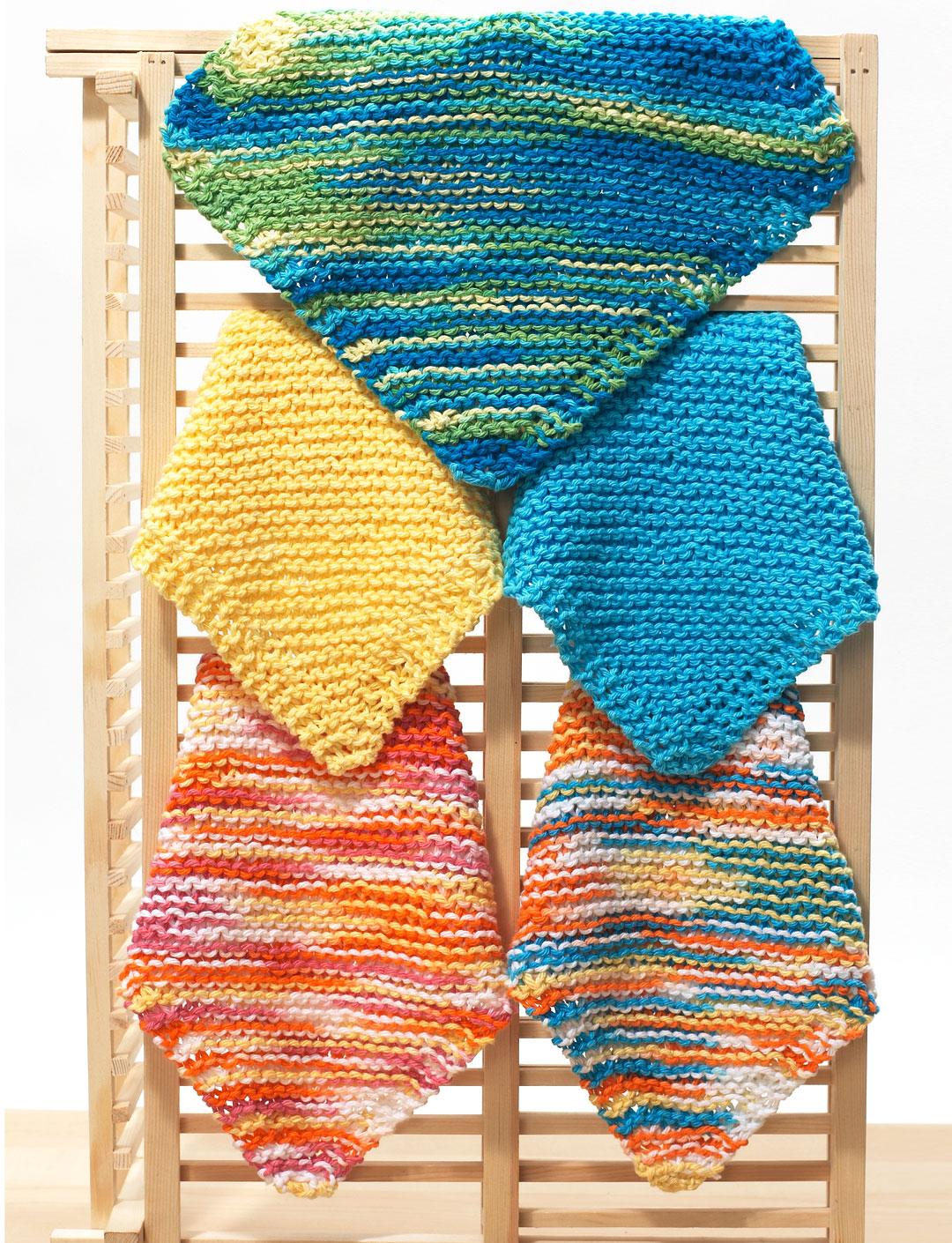 Easy Dishcloth Knitting Pattern via FaveCrafts
