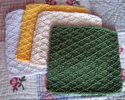 Lattice Stitch Dishcloth