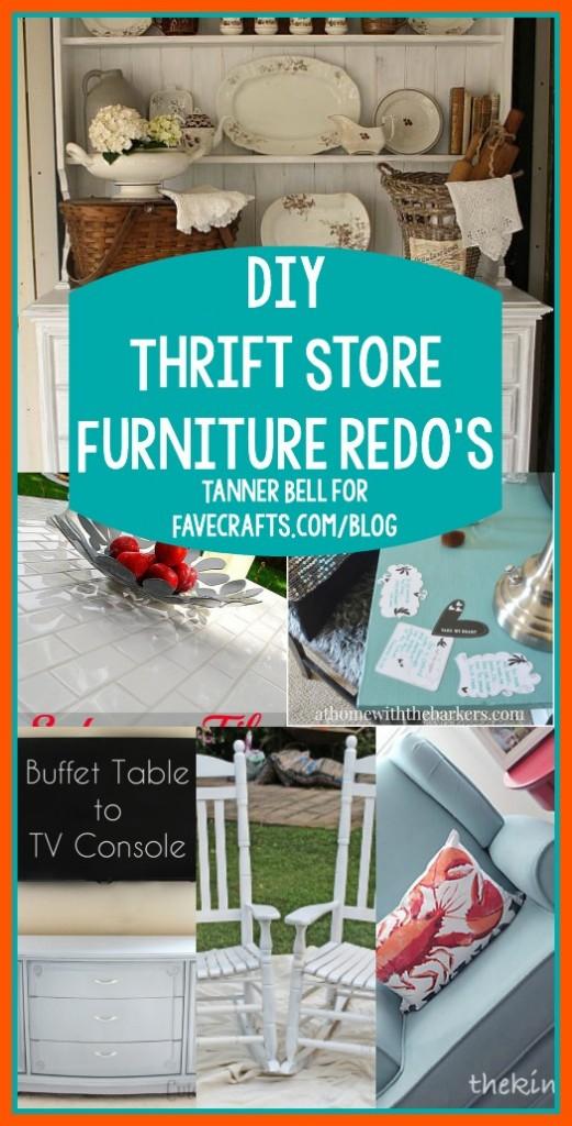 DIY Thrift Store Furniture redo's
