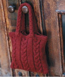 Cabled Bag. This image courtesy of http://www.vogueknitting.com.