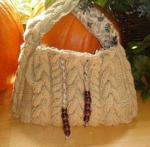 Cabled Boho Bag. This image courtesy of mydreamsweetlove.blogspot.com.