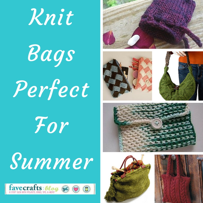 Knitting Projects For Summer : Free knit bag patterns for summer