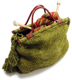 Knit Tote for Knitters by Donna Yacino for Berroco. This image courtesy of berroco.com.
